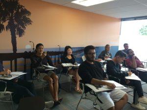 EC students attending a Toefl class