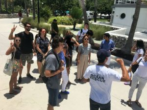 ESL Courses in Miami - Students are learning water safety on Miami Beach