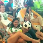 English Students in Miami watching the World Cup