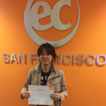 Toshio studied ESL in San Francisco for several months