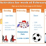 Weekly Activities for ECLA!