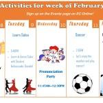 Weekly Activities for ECLA!