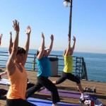 Exercise at the pier!