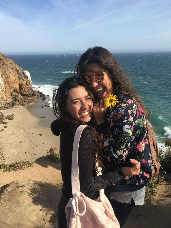 Luisa and her friend, Paula, enjoying the beautiful views of a beach hike in Malibu!