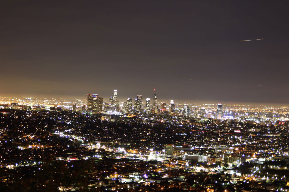 Look at the lights of Los Angeles!