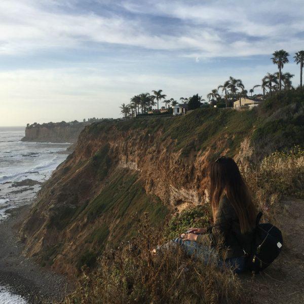 Amy enjoying the views in Palos Verdes