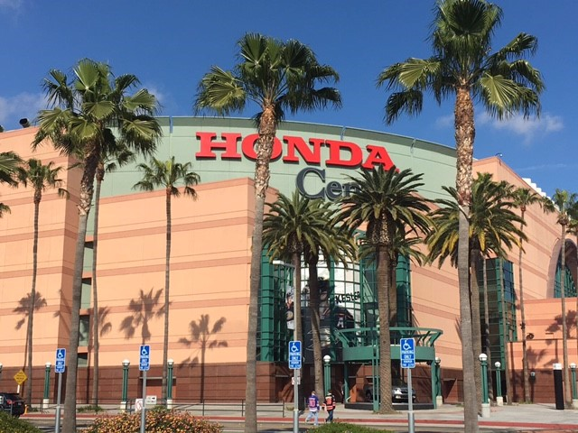 Outside the Honda Center