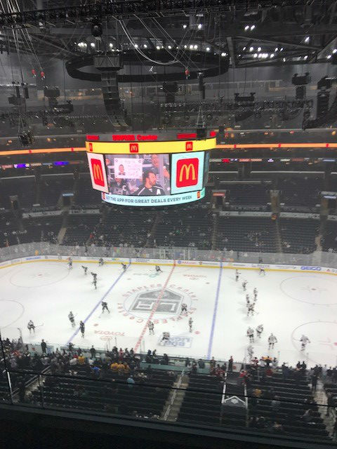Inside the Staples Center!