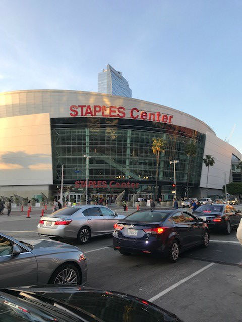 Outside the Staples Center!