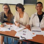 Students studying English at EC Montreal