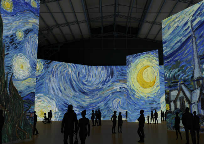 imagine van gogh is coming to montreal this december