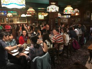 Students learning English in Toronto enjoy an Italian Dinner