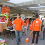 EC booth at the World Student Day