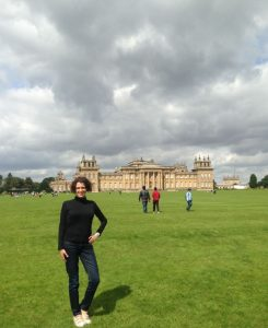 Ina, an EC Oxford English student, at Blenheim Palace