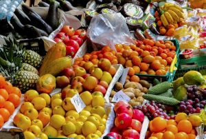 EC Oxford English Centre has a fruit and veg market stall right outside every Wednesday