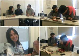 Students at EC Oxford IELTS Centre attending their writing course