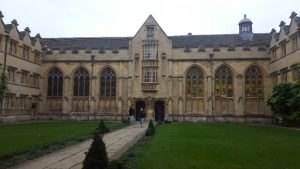 EC Oxford students had a tour of University College, Oxford