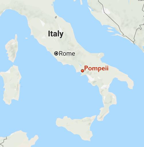 map italy pompeii