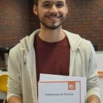 Pietro receiving his graduation certificate