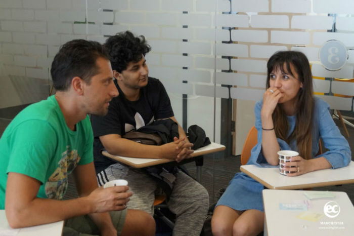 New EC Manchester Language School students introduced though a Coffee and Chat