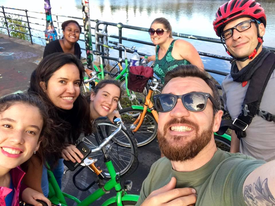 Selfie time under the sun during the Manchester Bike Tour!