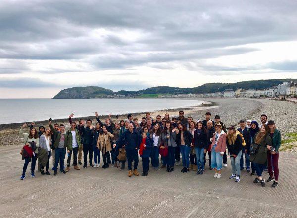 Students learning English at EC Manchester visit North Wales