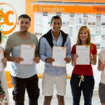 EC students with certificates