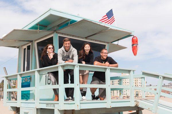 students enjoying free time in Miami