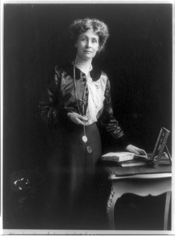 Emmeline Pankhurst, the founder of the suffragette movement in the UK.