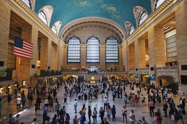 Take the train to Grand Central Station.