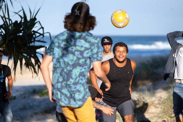 EC English Gold Coast students at Surfers Paradise.