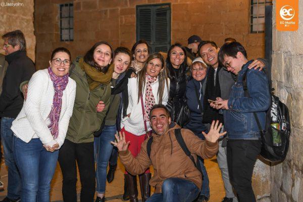 EC Malta's English students in Vittoriosa, Malta.