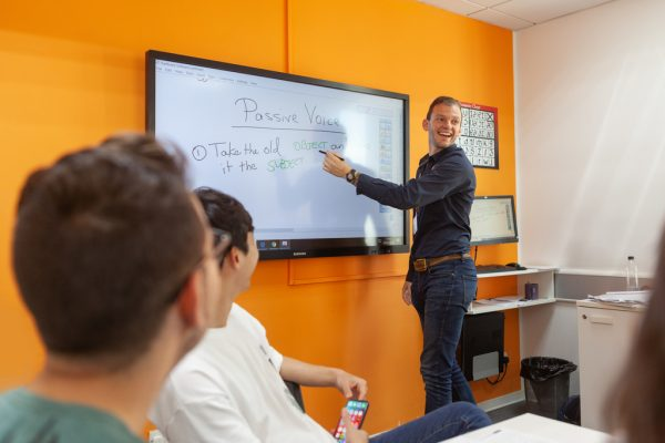 EC Malta's classrooms with interactive whiteboards.