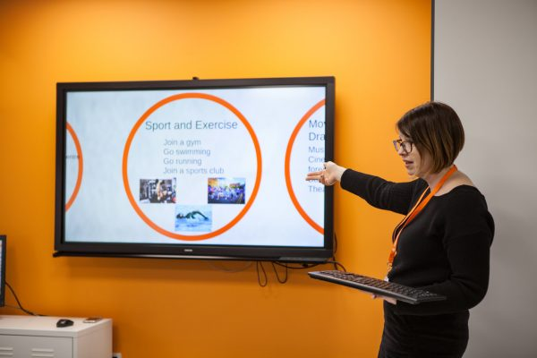 Teaching with touch screen TVs in EC Dublin's 30+ classrooms