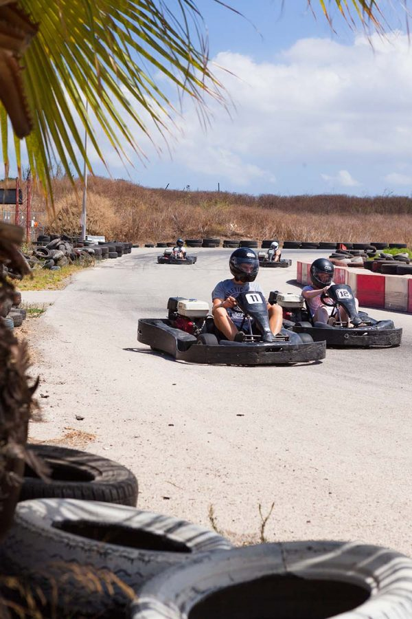 EC Malta young learners at a karting excursion as part of the school's organised activities.