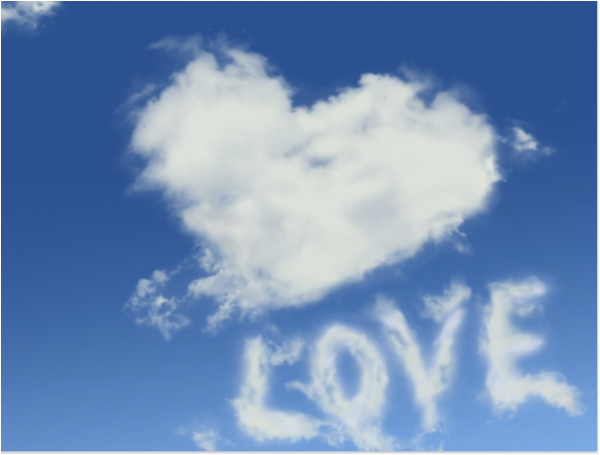 Love is in the air up on a cloud