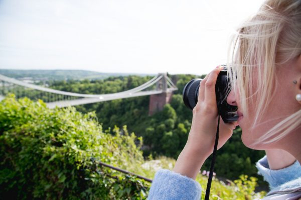 Bristol Bridge photography girl
