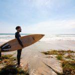Amante del surf en San Diego