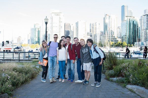 English language students in Vancouver