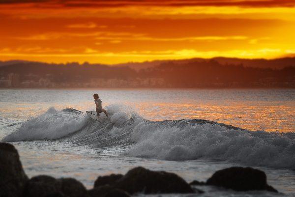 Inolvidable atardecer en Gold Coast
