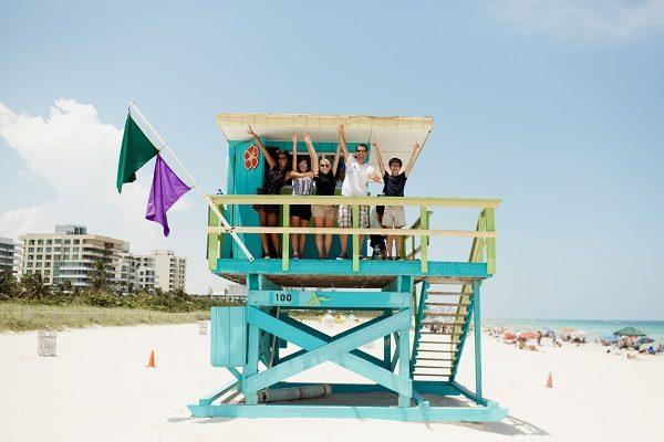 Estudiantes En Miami Beach