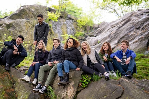 Estudiantes en el Central Park