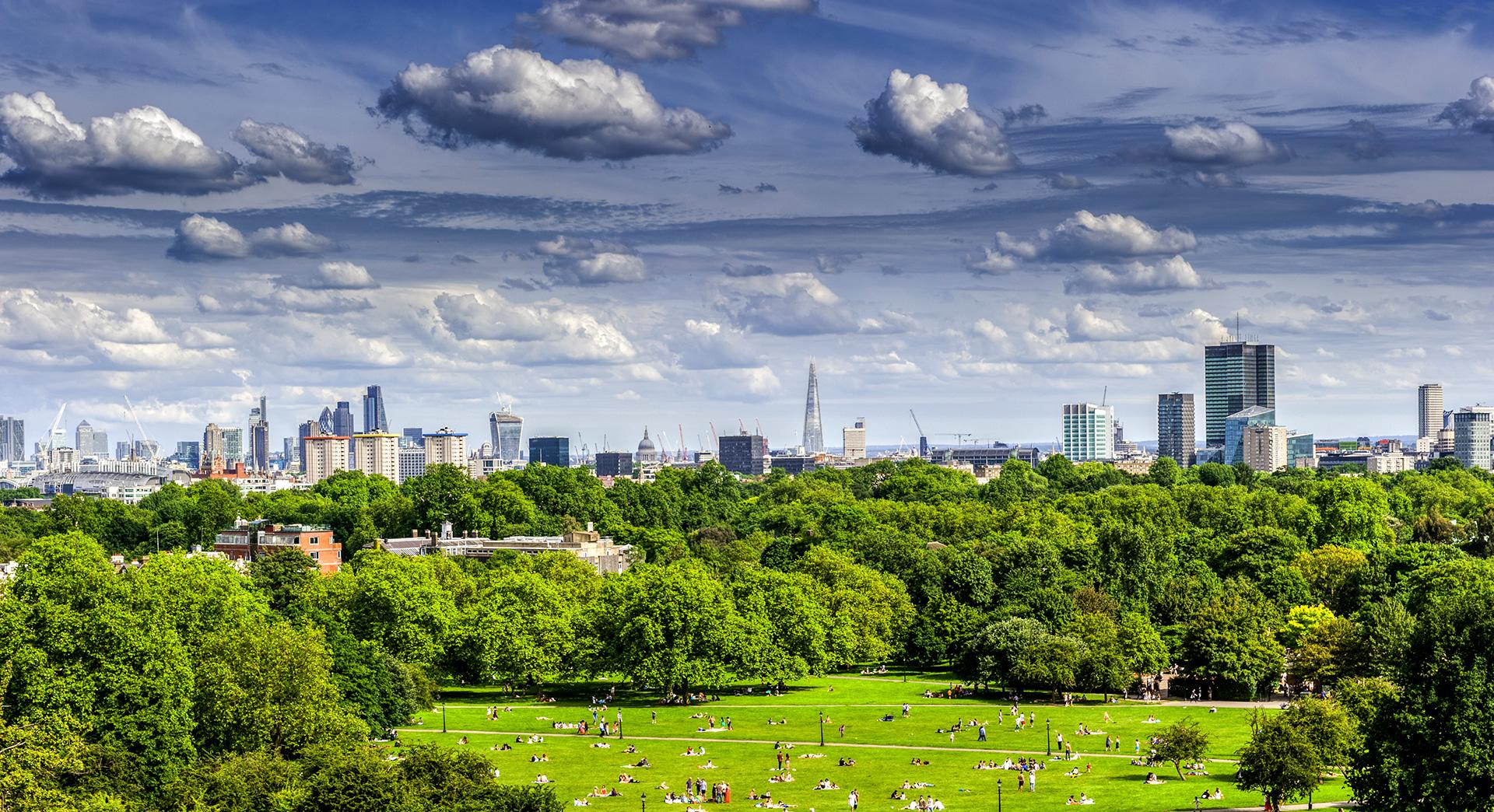 Vista da Primrose Hill, vicino a Camden Town, Londra