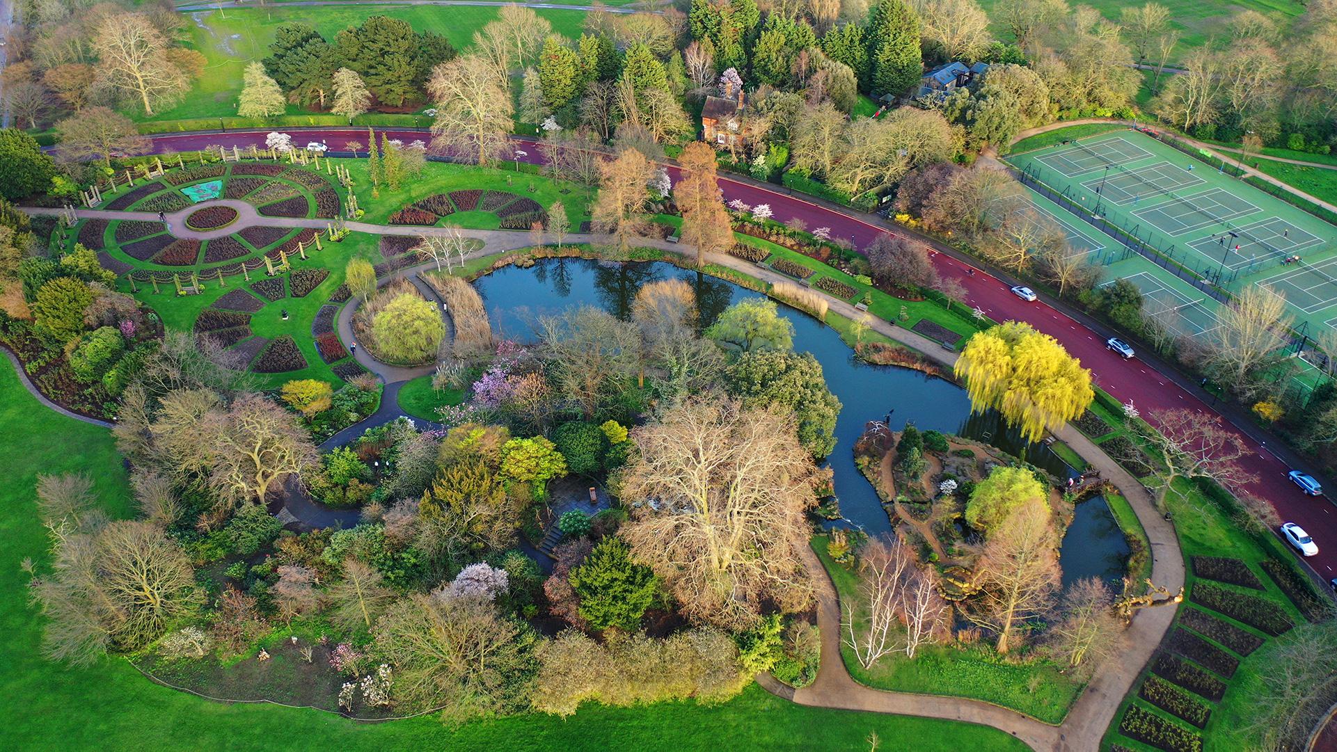 Queen Mary's Garden vicino a Camden Town, Londra
