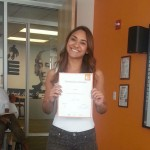 Ana Ascanio graduates from EC Washington English course