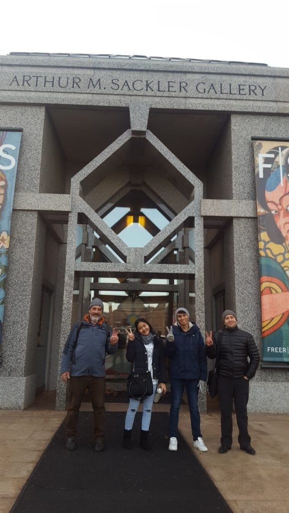 English Center students visit beautiful Freer Gallery