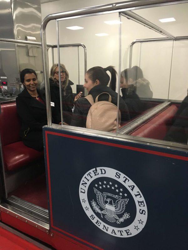 EC Washington English Language Center students ride the Senate Trolley!