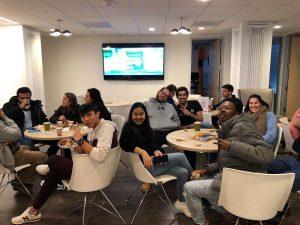 EC Washington English students enjoy a free breakfast