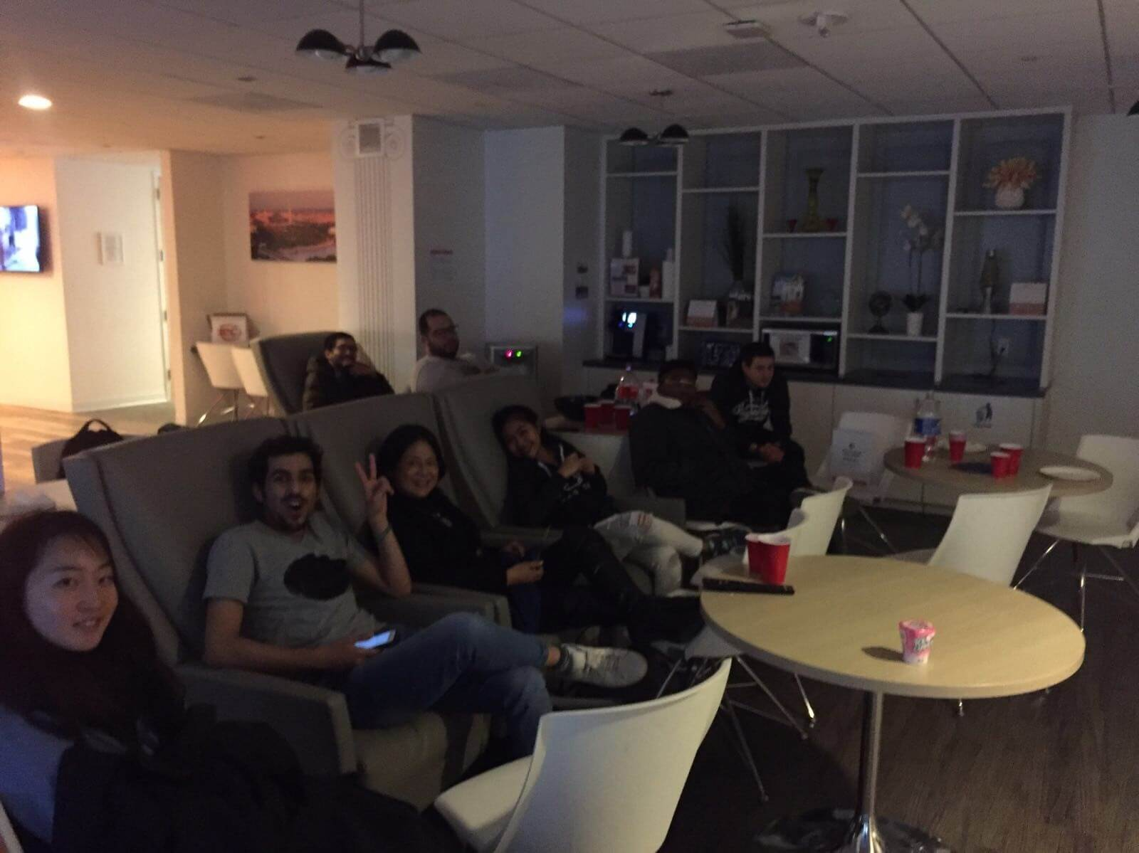 Ec Students Enjoy Free Popcorn Movie In Student Lounge Ec Washington