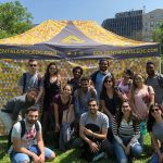 EC Washington DC students in Farragut Square before going bowling
